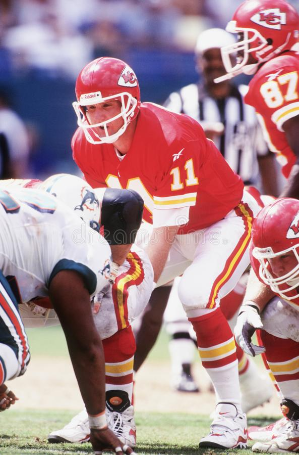 Elvis Grbac. Kansas City Chiefs QB Elvis Grbac. Image taken from color slide royalty free stock photography