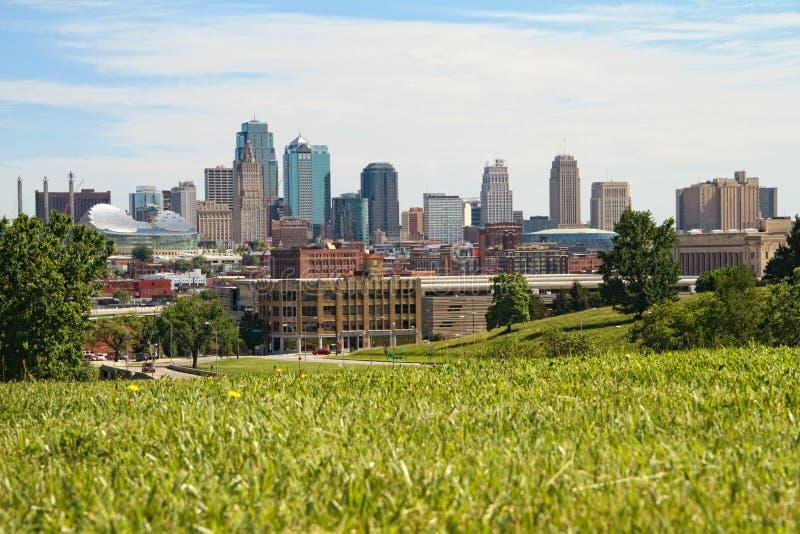 Kansas City da baixa foto de stock royalty free