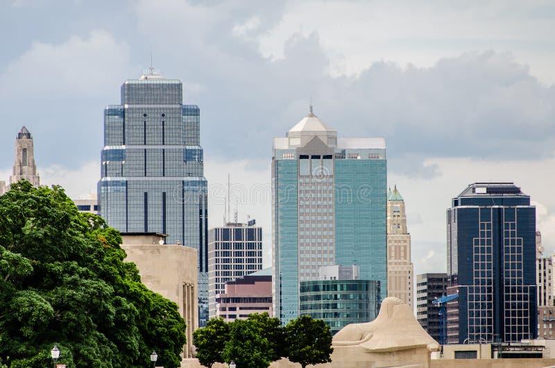 Kansas City del centro Missouri immagini stock libere da diritti