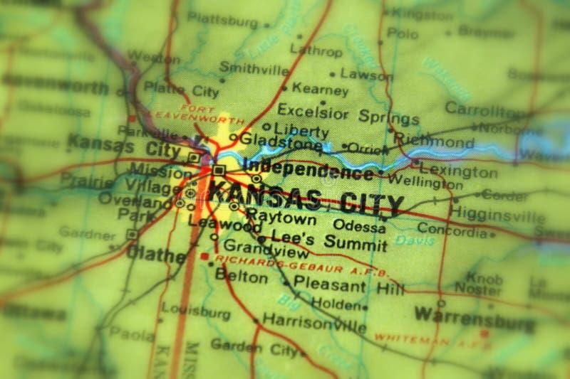 Kansas City, een stad in U S royalty-vrije stock afbeeldingen