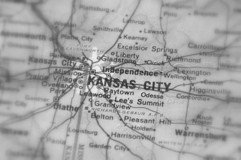 Kansas City en stad i Uen S fotografering för bildbyråer