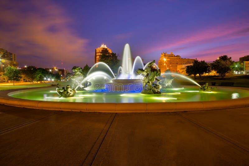 Kansas City fontanny zdjęcia royalty free
