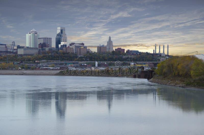 Kansas City Missouri city scape royalty free stock image