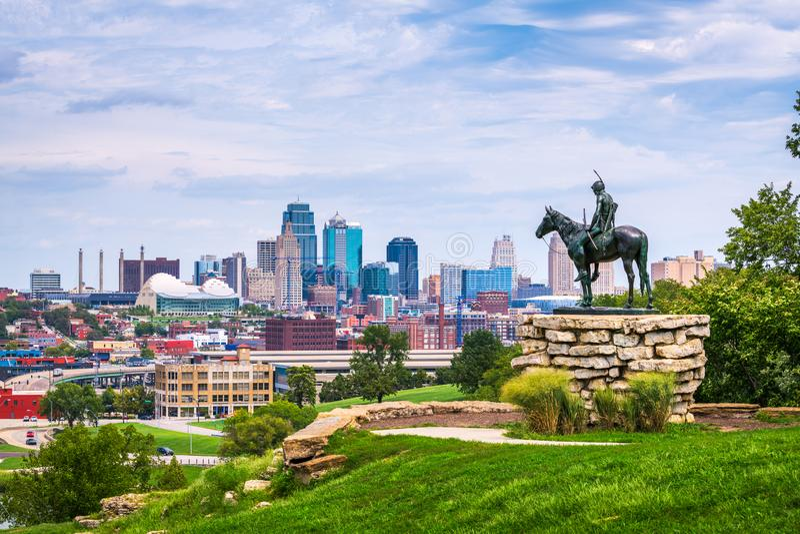 Kansas City, Missouri, Etats-Unis image stock