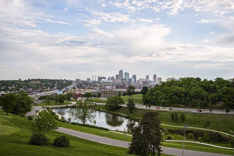 Kansas city Missouri skyline,Union Station,buildings, stock photo
