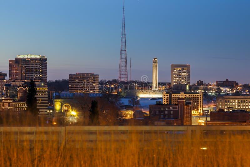Kansas City panorama. Kansas City, Missouri, USA royalty free stock photography