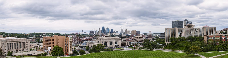 Kansas City panorama stock photography