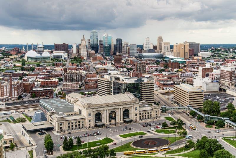Kansas City-Skyline Missouri lizenzfreie stockbilder