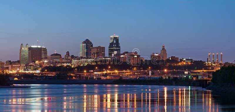 Kansas City skyline panorama. stock photo