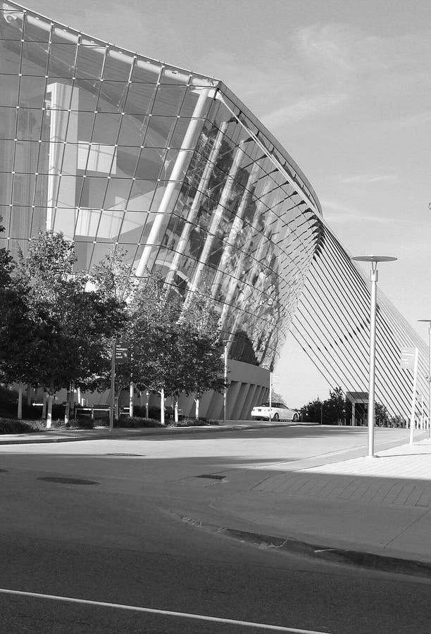 Kansas City stjärnabyggnad i Blacka nd-vit royaltyfri bild