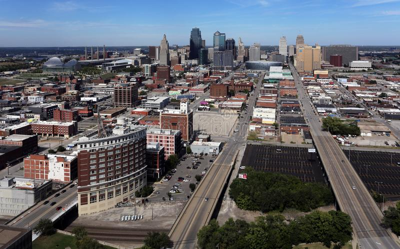 Kansas- CitySkyline lizenzfreies stockfoto