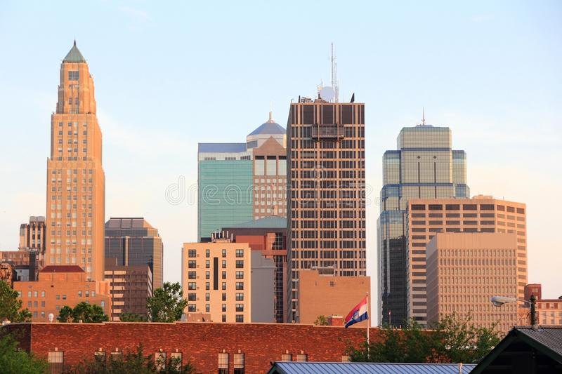 Kansas- Citysonnenuntergang stockfotos