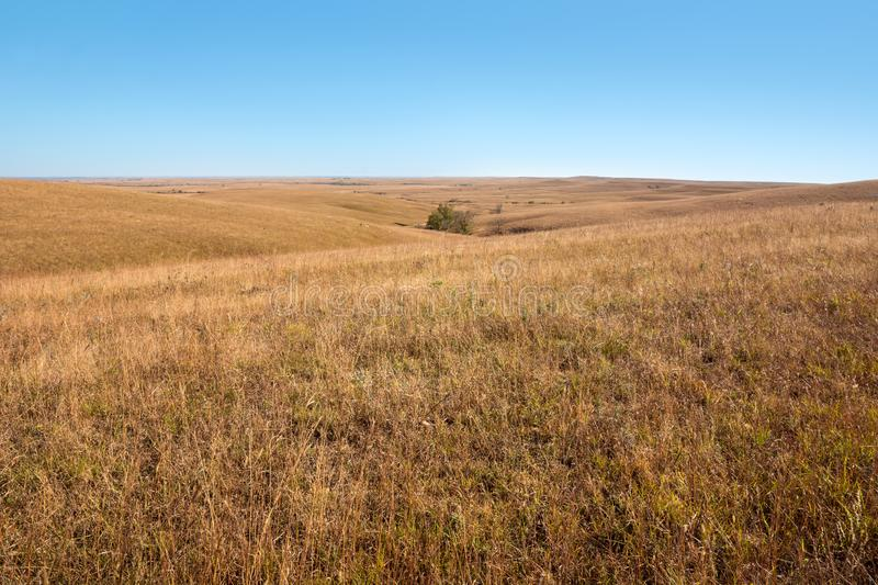 Kansas Flint Hills foto de stock