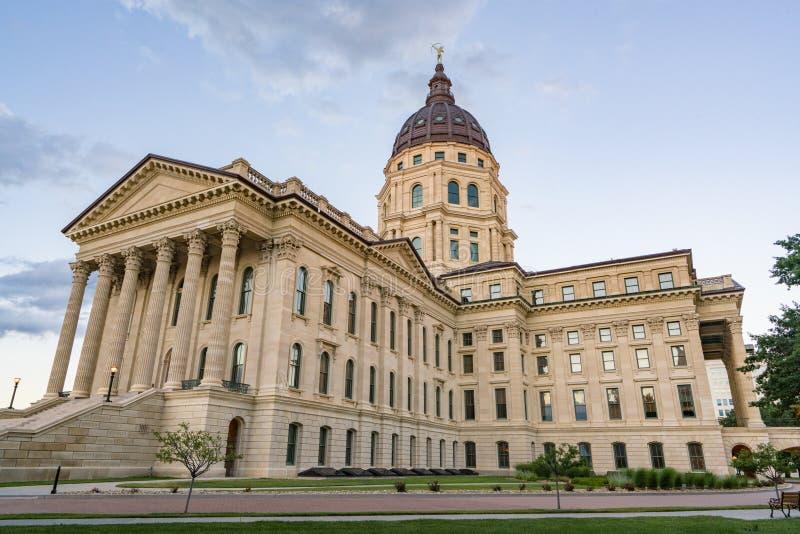 Kansas huvudstadbyggnad arkivfoto