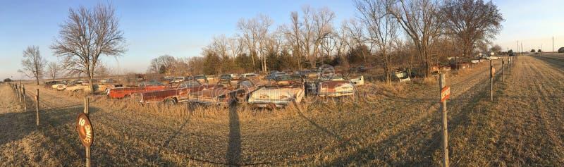 Kansas junkyard zdjęcie royalty free
