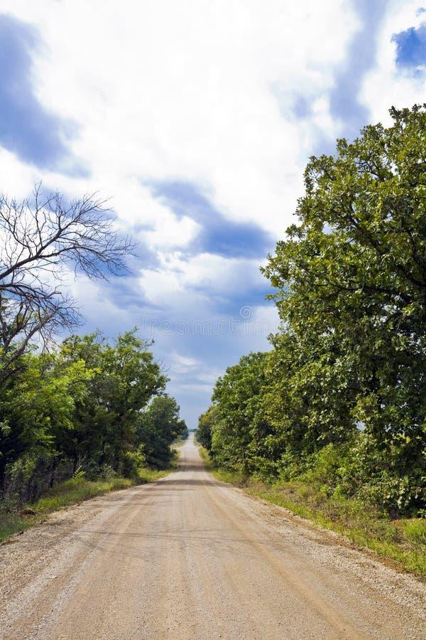 Kansas-landwirtschaftliche Straße stockfotos