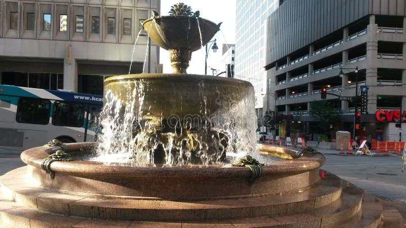 Kansas miasta fontanna obrazy royalty free