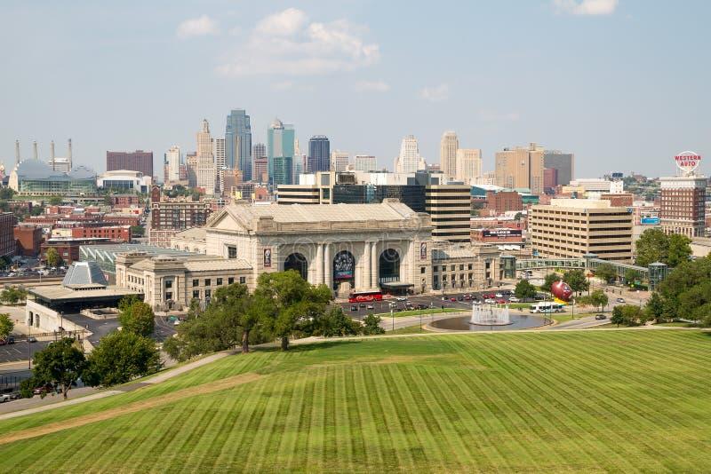 Kansas miasta Missouri linia horyzontu zdjęcie royalty free
