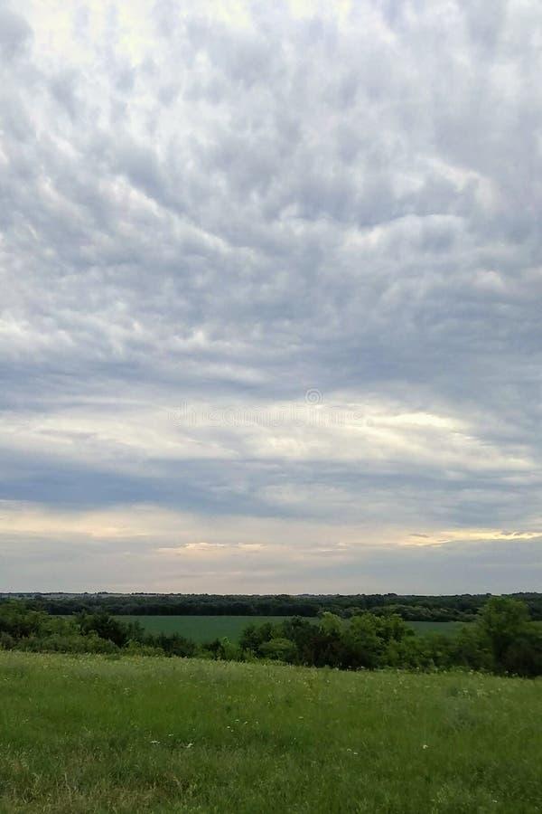 Morning sky. Kansas morning sky and countryside royalty free stock photos
