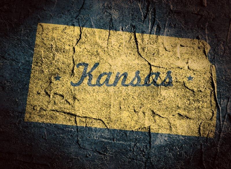 Kansas-Staatskarte stock abbildung