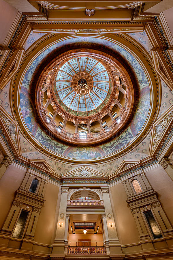 Kansas State Capitol Inner Dome royalty free stock photos