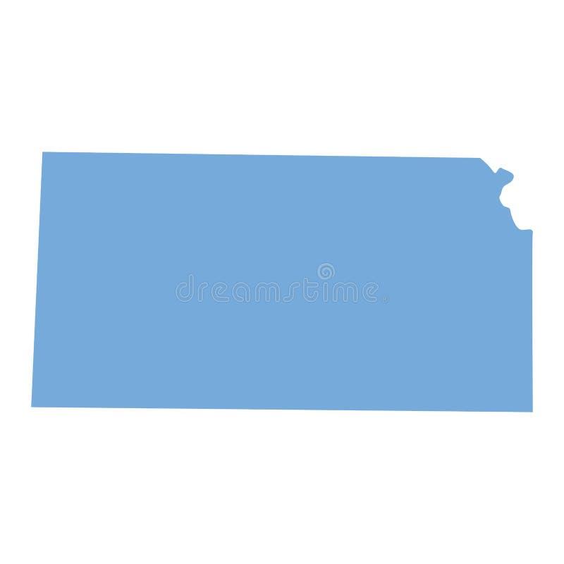 Kansas tillståndsöversikt royaltyfri illustrationer