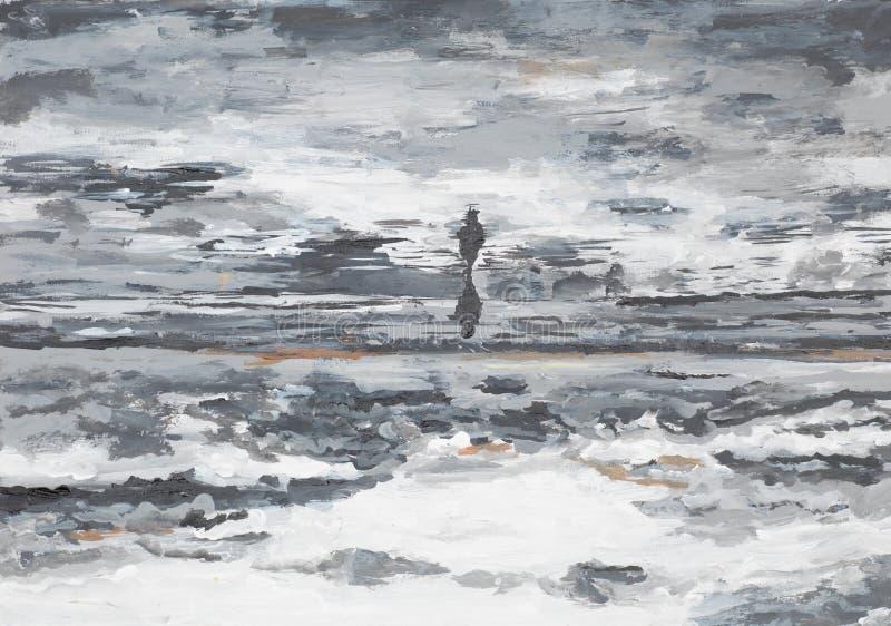 Kansdcape abstrato do beira-mar ilustração do vetor