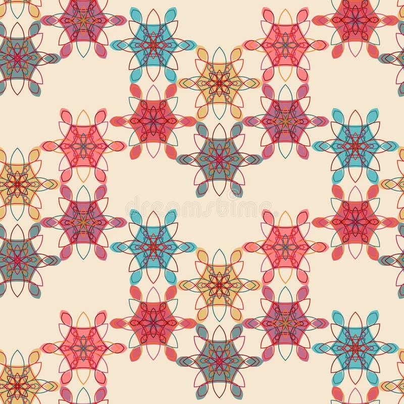 Kant bloemen naadloos patroon in tedere roze kleuren stock illustratie