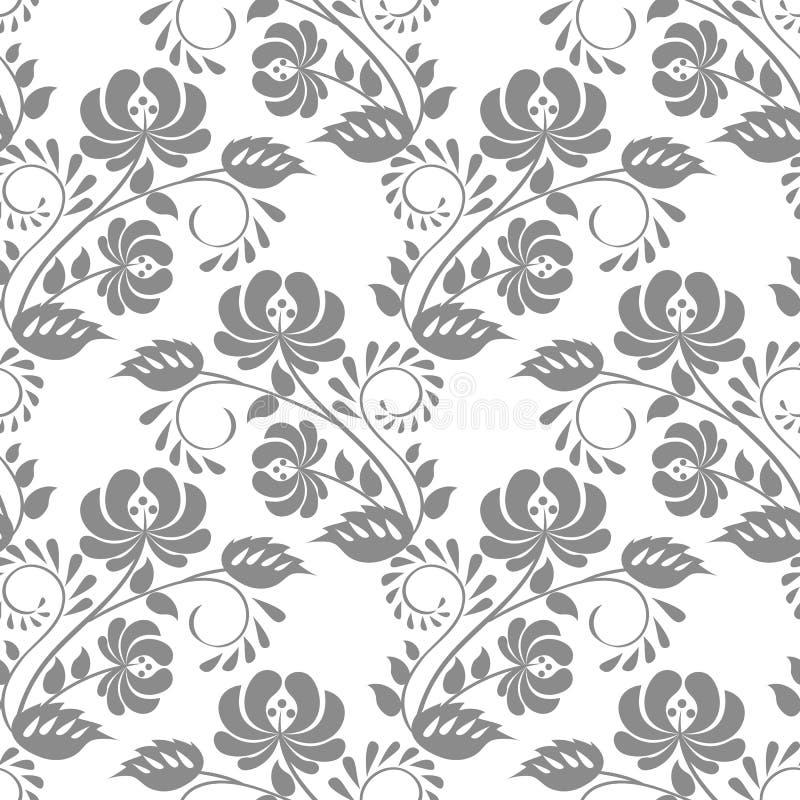 kant bloemenpatroon stock illustratie