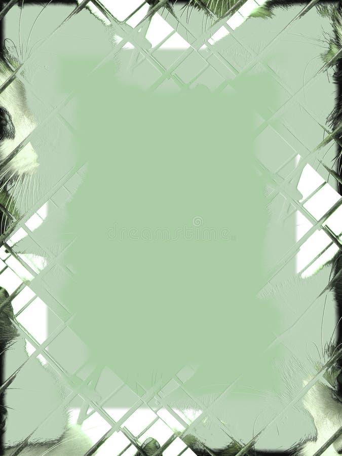 kant caged gräsplaner royaltyfri illustrationer