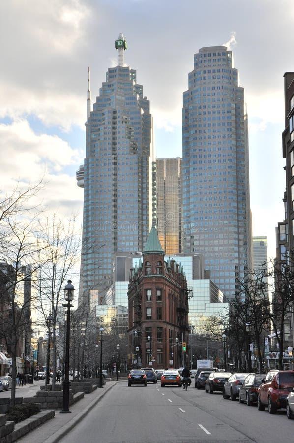 Kant de van de binnenstad van het Oosten van Toronto royalty-vrije stock foto's