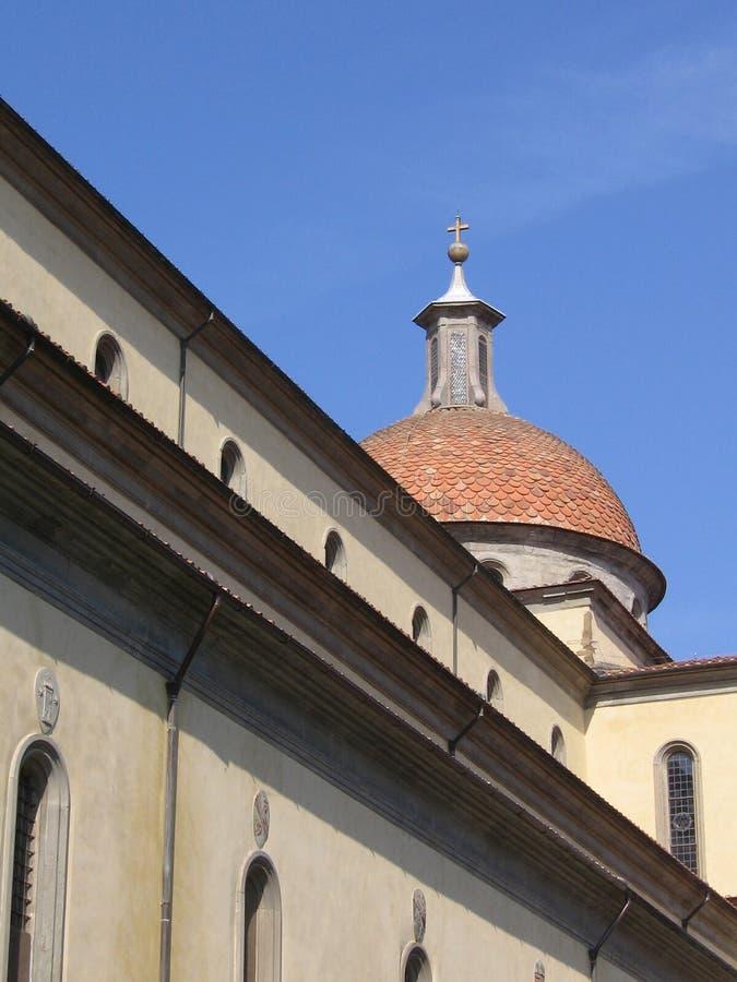 Kant en koepel van Santo Spirito stock foto