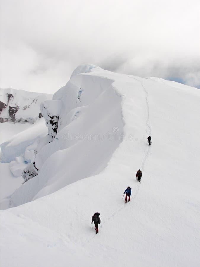kant för beerenbergklättrarekrater royaltyfri foto