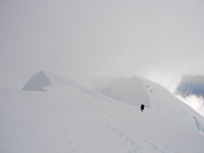 kant för beerenbergklättrarekrater royaltyfri fotografi