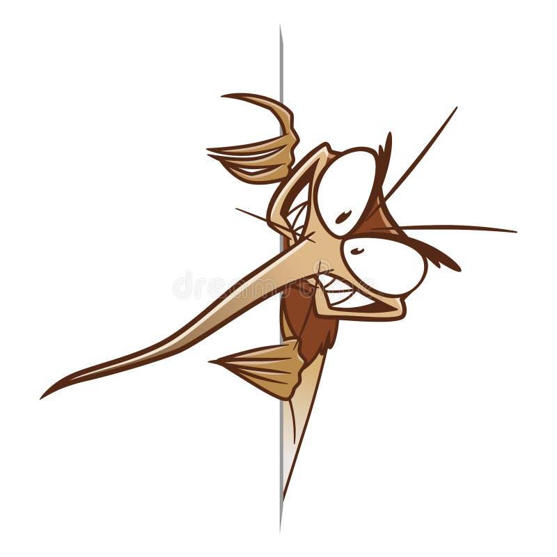 Kant för myggadesignbeståndsdel av papper royaltyfri illustrationer
