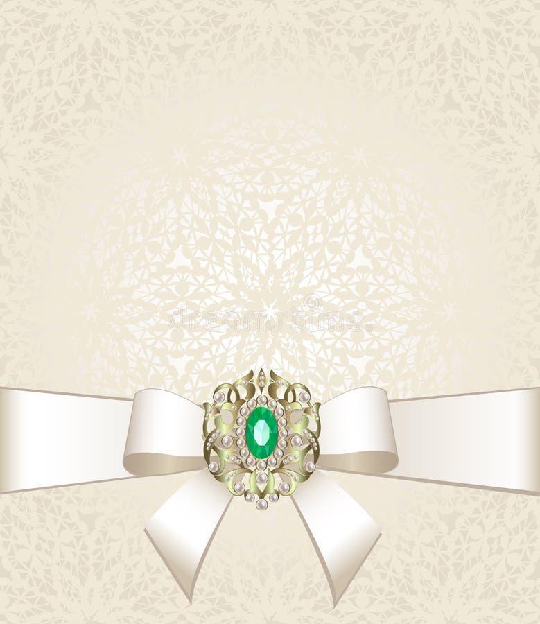 Kant met juwelen royalty-vrije illustratie