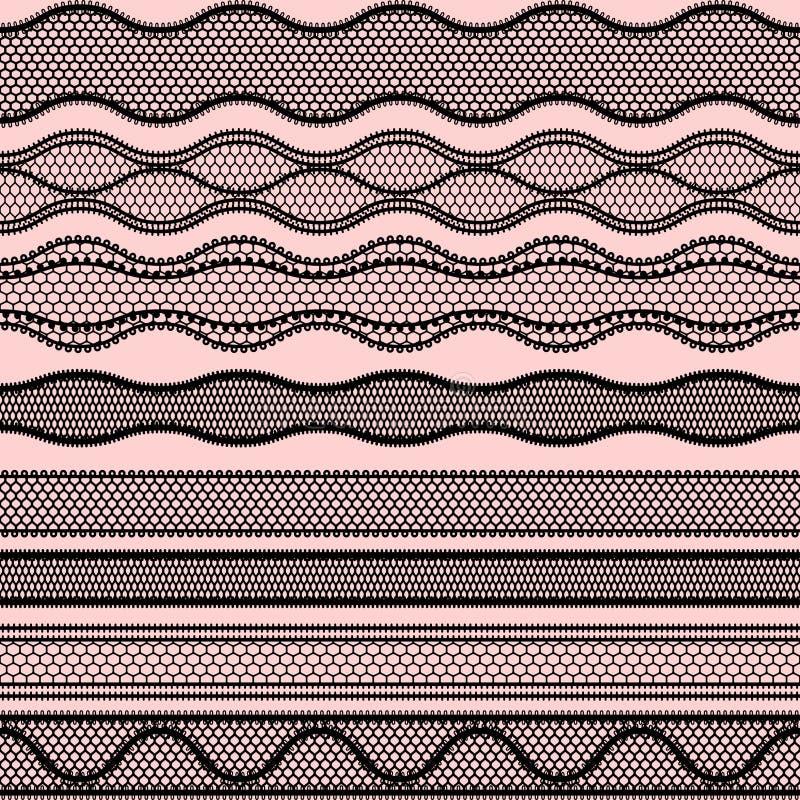 Kant naadloze grenzen Vectorreeks elementen voor stock illustratie