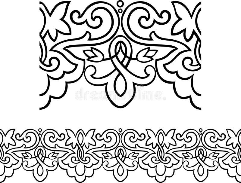 kant som upprepar stilvictorianen vektor illustrationer