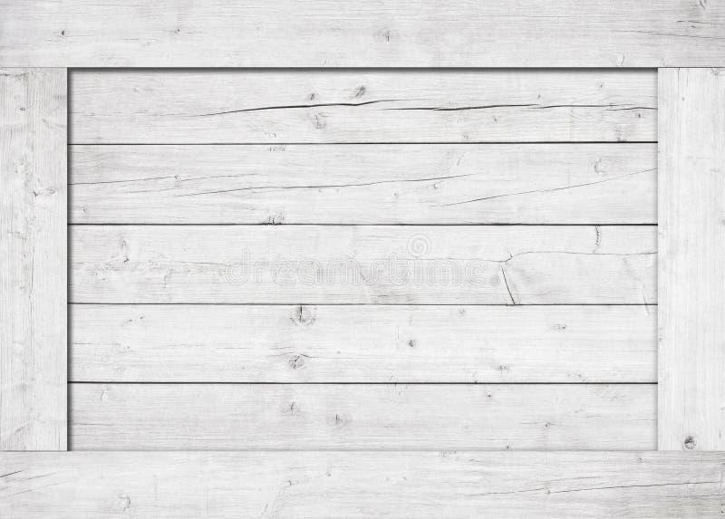Kant van wit houten krat, doos, muur of kader royalty-vrije stock foto's