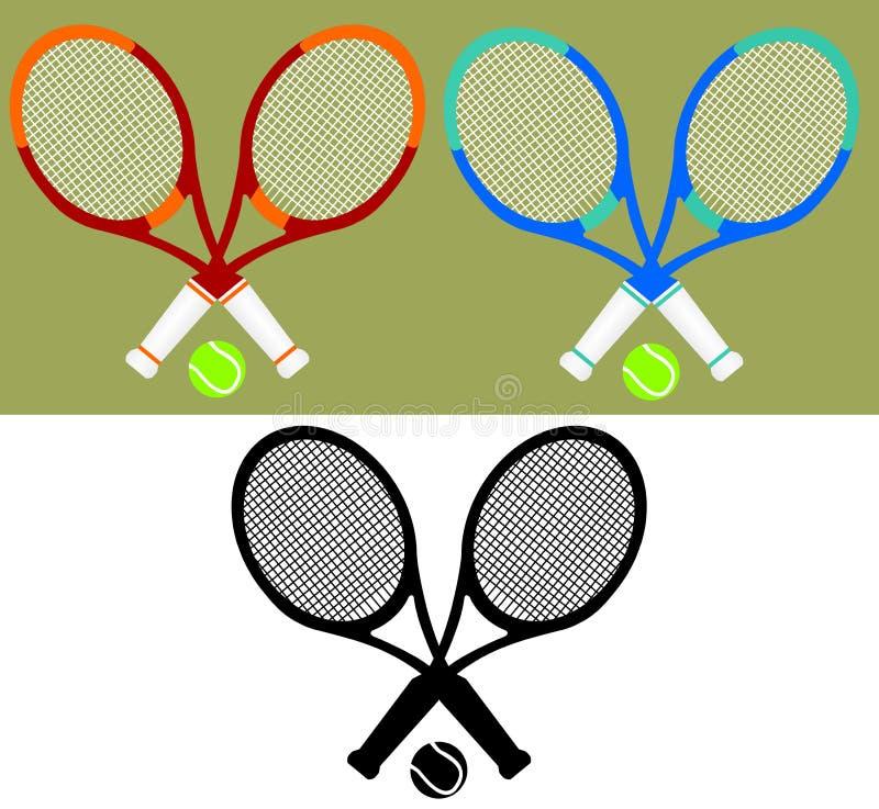 kanta tenis royalty ilustracja