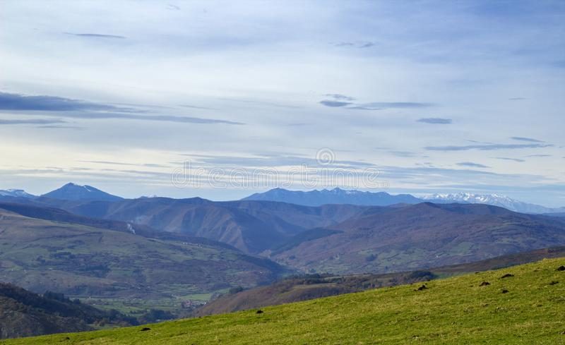 Kantabrien, wandernd zu Monte Cilda lizenzfreies stockbild