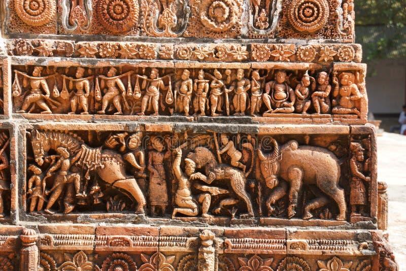 Kantaji tempel, Dinajpur royaltyfri fotografi