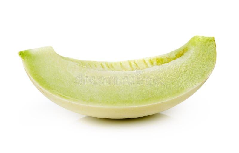 Kantalupenmelone lokalisiert auf weißem Hintergrund stockfoto