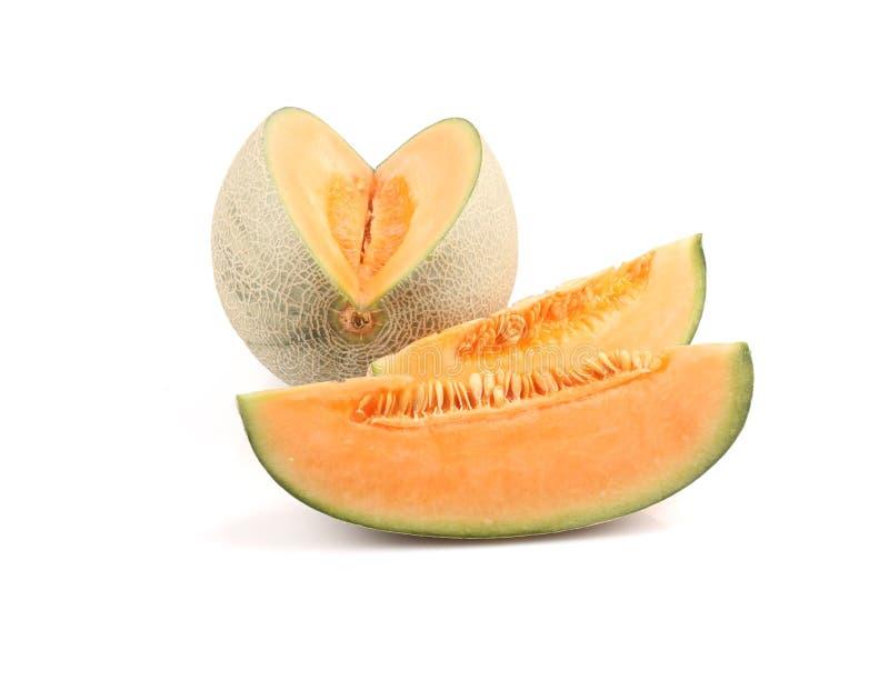 Kantalupenmelonenscheiben lizenzfreie stockbilder