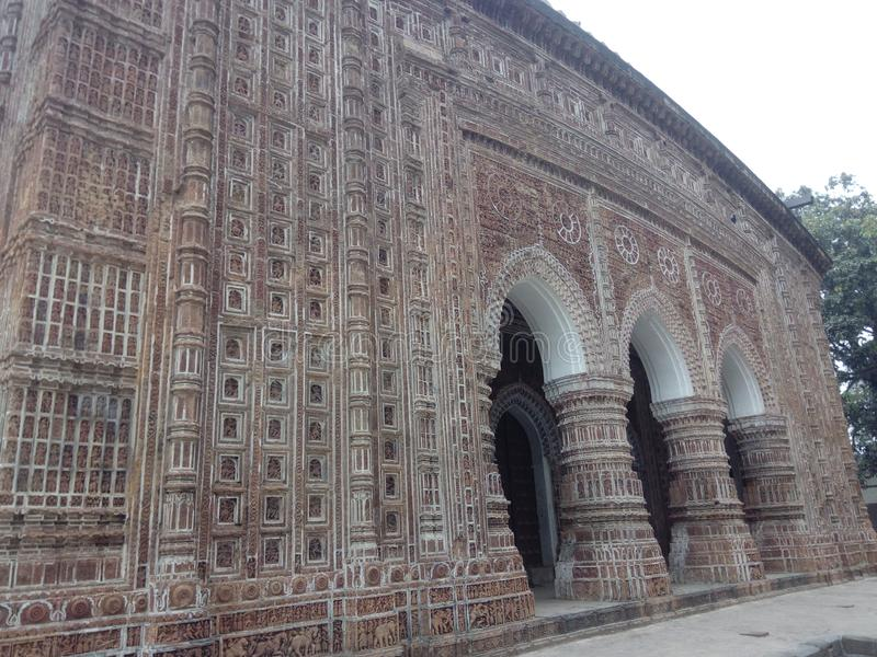 Kantanagar Temple with Terracotta Design 18-th Century Bangladesh stock photo