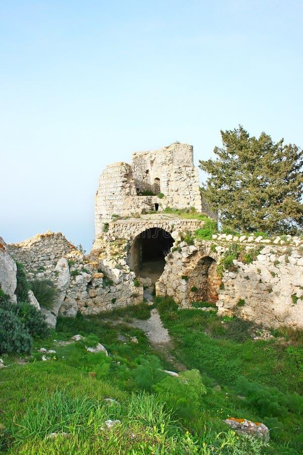 Kantara castle stock photo