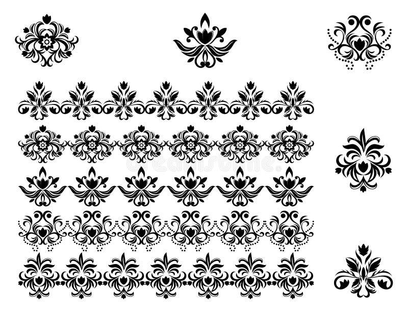 kantblommamodeller royaltyfri illustrationer