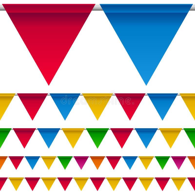 kantbunting flags deltagaren stock illustrationer