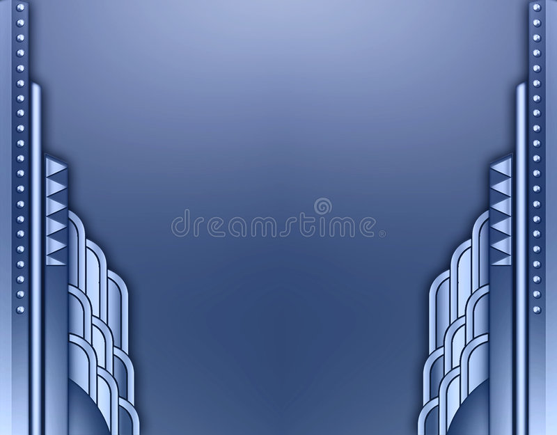 kantbyggnadsdeco stock illustrationer