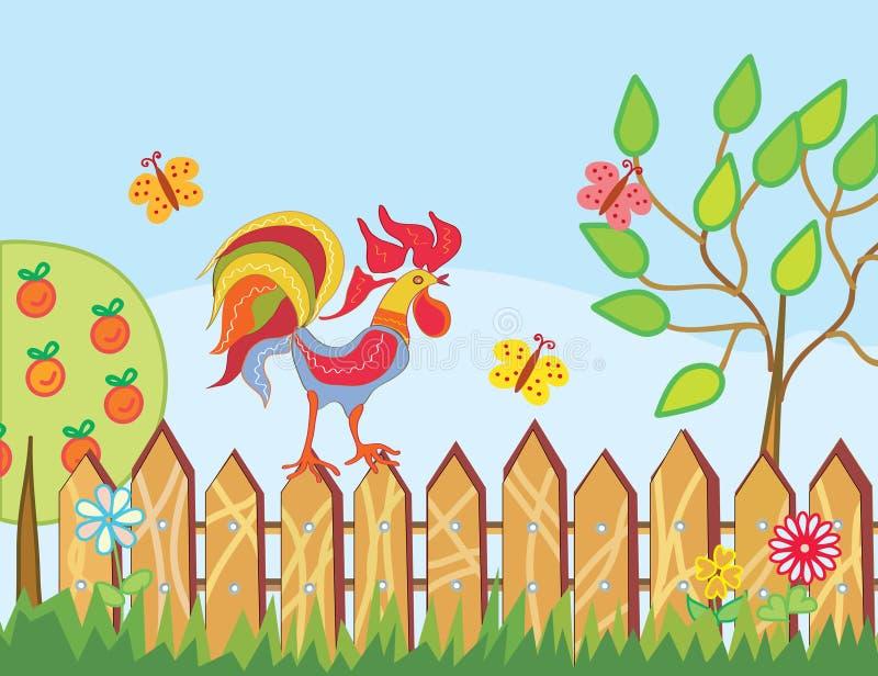 kanten blommar roostertrees stock illustrationer